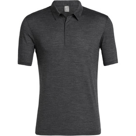 Icebreaker Solace SS Polo Herre black heather